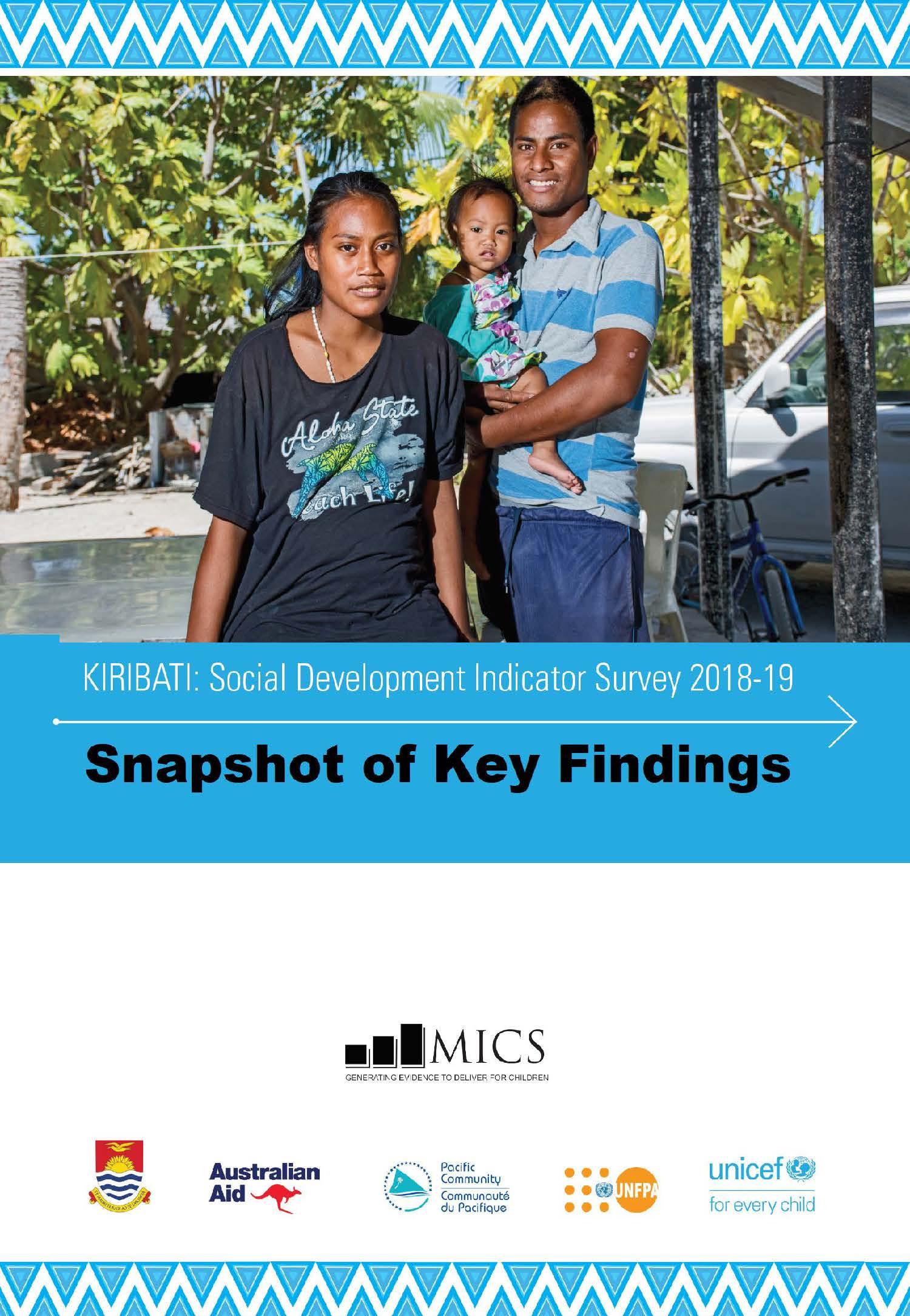 KIRIBATI: Social Development Indicator Survey 2019-19