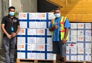 UNFPA Pacific handed over sets of clean delivery kits to the Fiji Ministry of Health and Medical Services