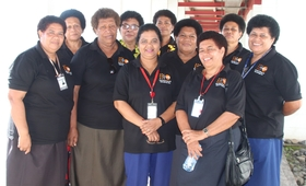 A group of 10 Retired Fijian Midwives