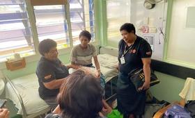 Retired Fijian Midwife Karalaini with the mother of the newborn in Labasa