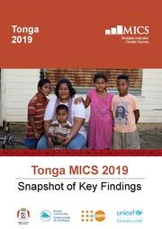 Tonga MICS 2019 Snapshot of Key Findings